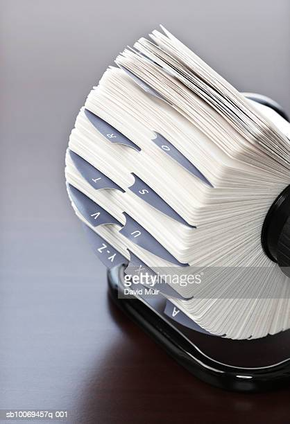 Rotary card file, studio shot