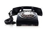 Rotary dial antique phone