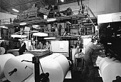 Rotary press in printing house in France