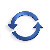 Rotating Arrows. Concept for a Cycle, Loop, continuous