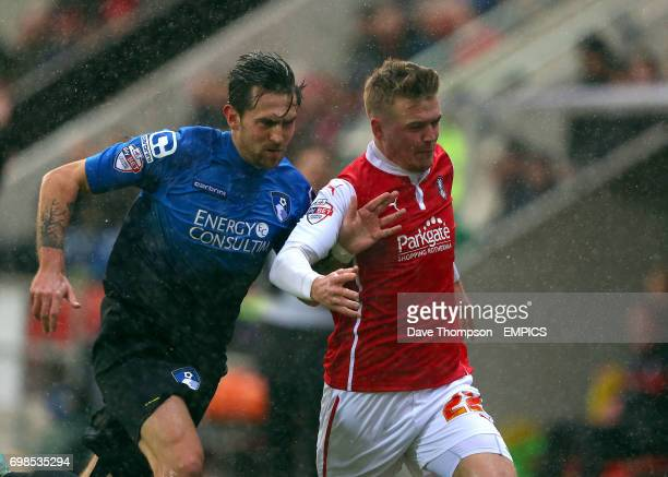 Rotherham United's Danny Ward and AFC Bournemouth's Charlie Daniels