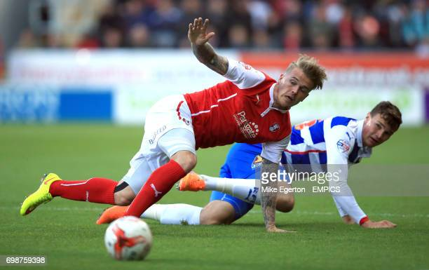 Rotherham United's Danny Ward and Reading's Jake Cooper in action