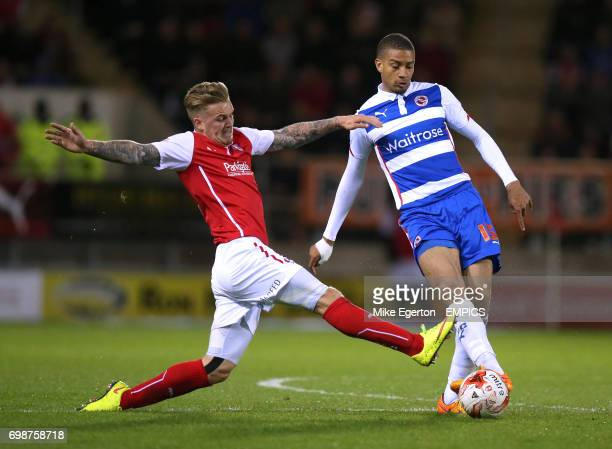 Rotherham United's Danny Ward and Reading's Michael Hector