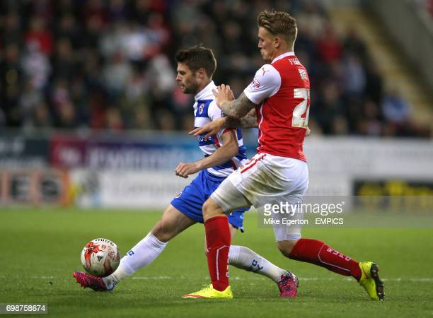 Rotherham United's Danny Ward and Reading's Oliver Norwood
