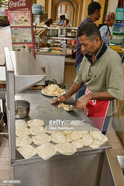 CONTENT] roti vendor in Little India Georgetown Penang Malaysia