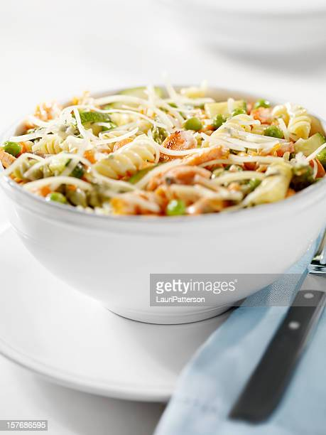 Rotini Pasta with Grilled Salmon