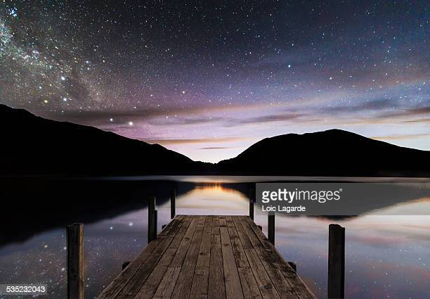 Rotorua Lake, Nelson Lakes National Park by night