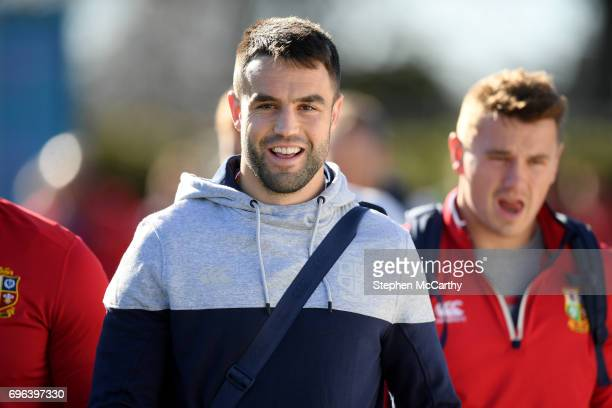 Rotorua New Zealand 16 June 2017 Conor Murray during the British and Irish Lions captain's run at Rotorua International Stadium in Rotorua New Zealand