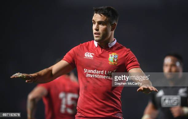 Rotorua New Zealand 17 June 2017 Conor Murray of the British Irish Lions during the match between the Maori All Blacks and the British Irish Lions at...