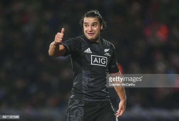 Rotorua New Zealand 17 June 2017 James Lowe of the Maori All Blacks during the match between the Maori All Blacks and the British Irish Lions at...