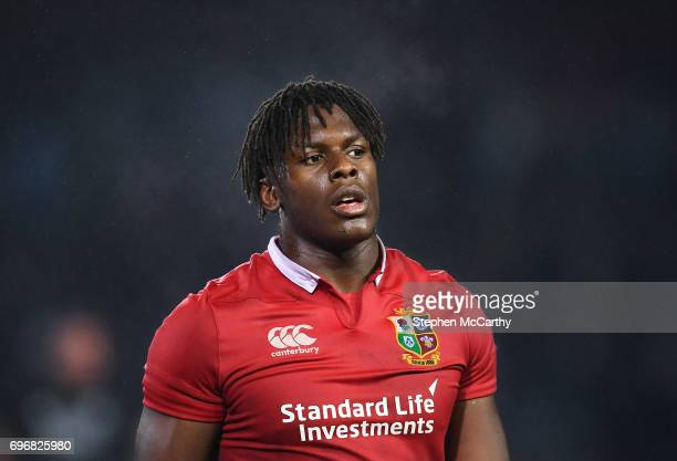Rotorua New Zealand 17 June 2017 Maro Itoje of the British Irish Lions following the match between the Maori All Blacks and the British Irish Lions...