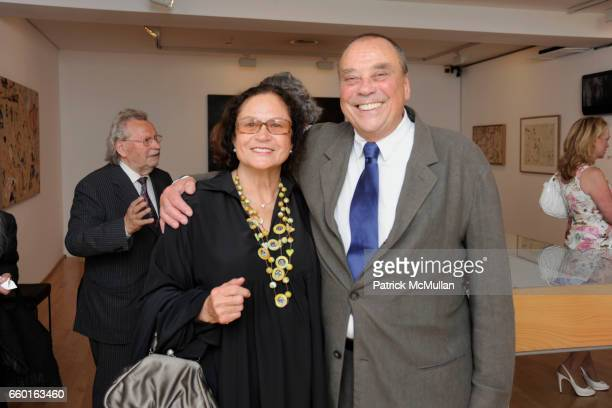 Rotraut and Gunther Uecker attend GALERIE GMURZYNSKA Celebrates the Opening of YVES KLEIN ROTRAUT Exhibition at Museo d'Arte Lugano on May 15 2009 in...