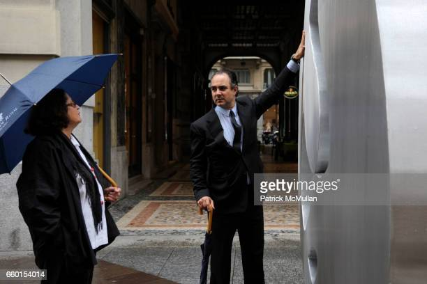 Rotraut and Mathias Rastorfer attend GALERIE GMURZYNSKA Celebrates YVES KLEIN ROTRAUT Sculptures Around Lugano on May 15 2009 in Lugano Switzerland