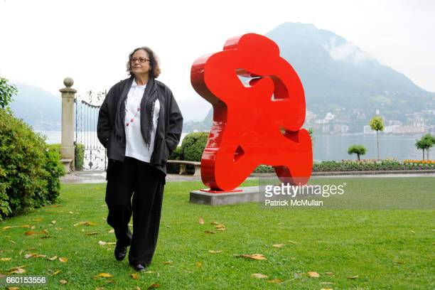 Rotraut attends GALERIE GMURZYNSKA Celebrates YVES KLEIN ROTRAUT Sculptures Around Lugano on May 15 2009 in Lugano Switzerland
