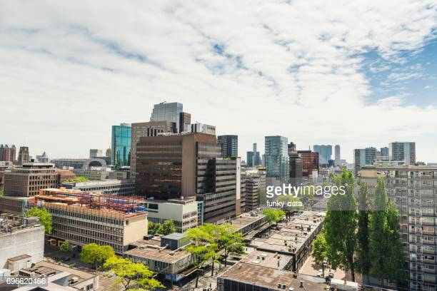 Rotterdam Lijnbaan shopping district luchtfoto