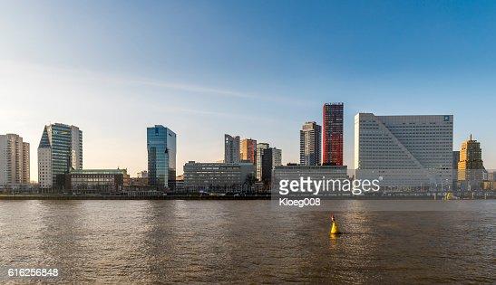 Rotterdam Nieuwe Maas North Shore : Foto de stock