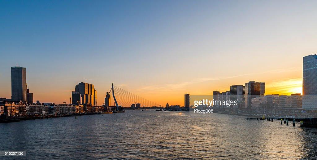 Rotterdam Nieuwe Maas : Stock Photo