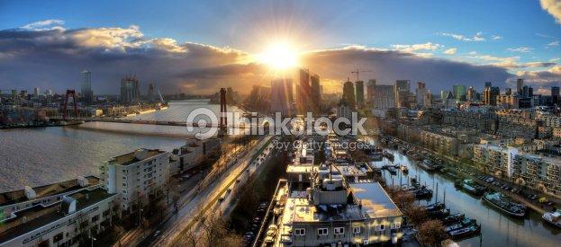rotterdam skyline panorama stock photo   thinkstock