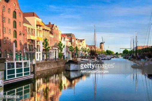 Rotterdam's Delfshaven with his Historic Boats