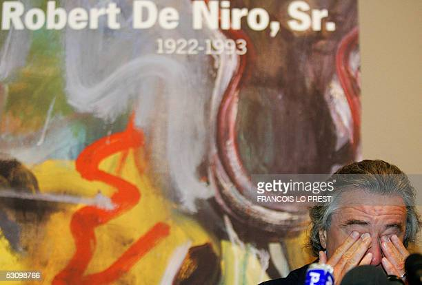 US actor Robert De Niro holds a press conference on his late father Robert De Niro Senior painting exhibition 18 June 2005 in 'La piscine' museum in...