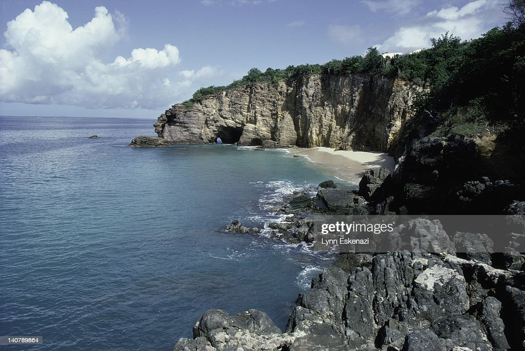 Rouge Beach, St. Martin, French West Indies : Stock Photo