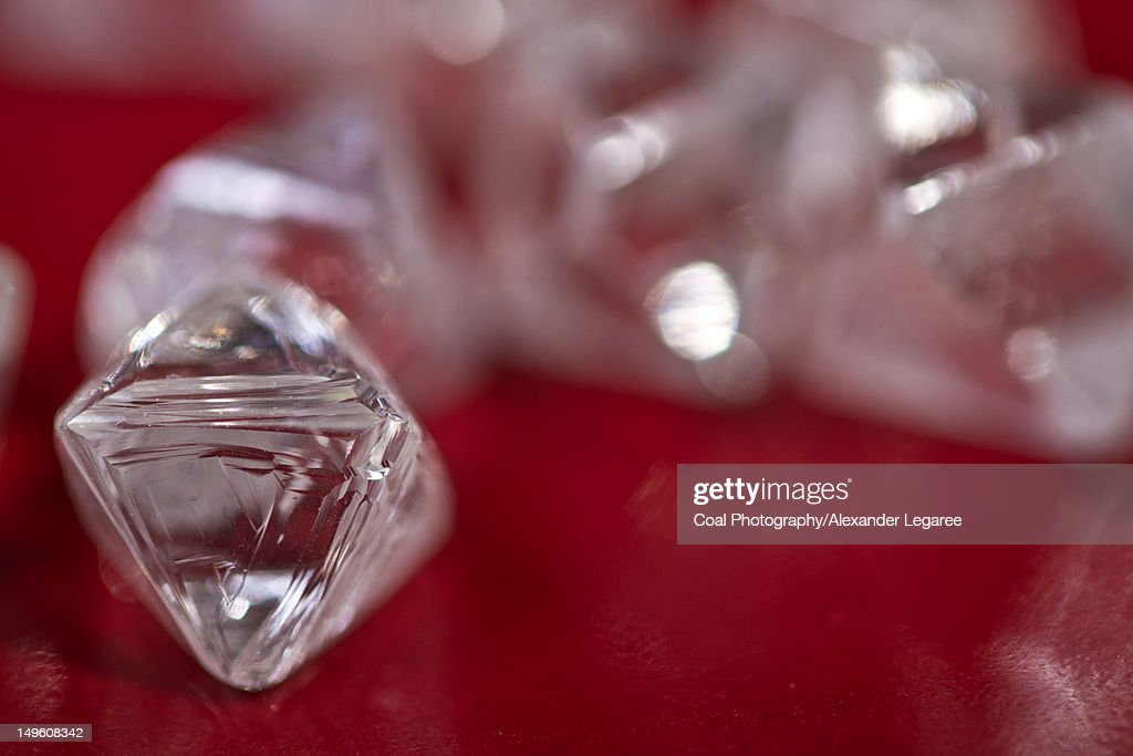 Rough diamonds : Stock Photo