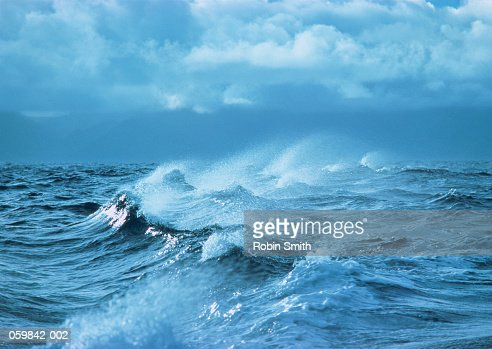 Rough sea in storm : Stock Photo