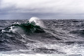 Rough seas and stormy sky
