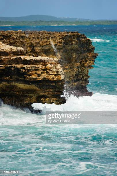 Rough water and cliffs, Saint Philip Parish, Antigua