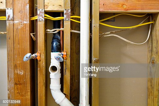Roughin Plumbing And Electrical Installation In Home Remodeling ...