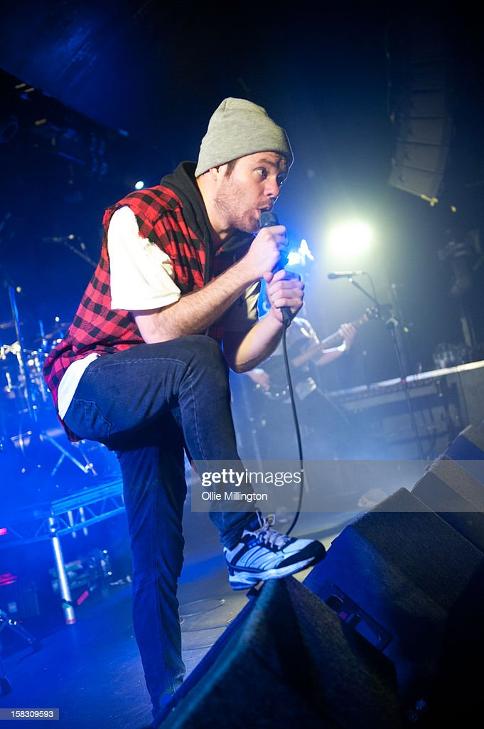 Roughton 'Rou' Reynolds of Enter Shikari Performs onstage during a day of the 5th UK leg of their A Flash Flood of Colour World Tour called A Flash Flood Of Christmas; at Rock City on December 12, 2012 in Nottingham, England.