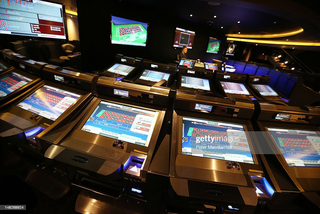 Roulette machines at The Hippodrome Casino near Leicester Square on July 13, 2012 in London, England. The new casino has five floors and 90,000 square feet of slot machines, blackjack and roulette tables.