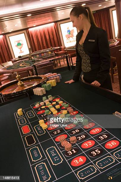 Roulette table in casino aboard cruiseship Silver Spirit (Silversea Cruises).
