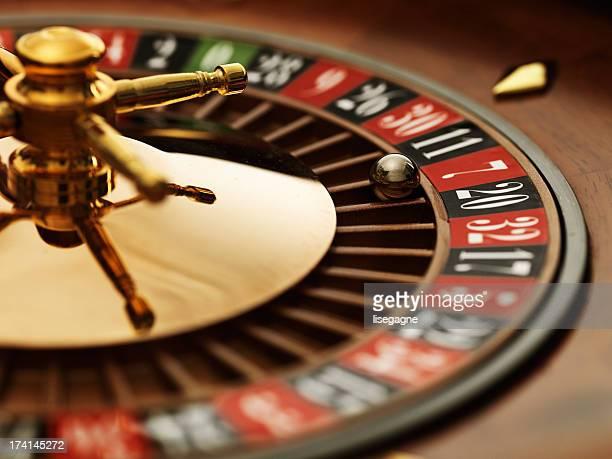 Roulette wheel closeup
