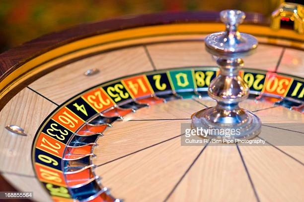 Roulette wheel in motion, Las Vegas, Nevada, USA