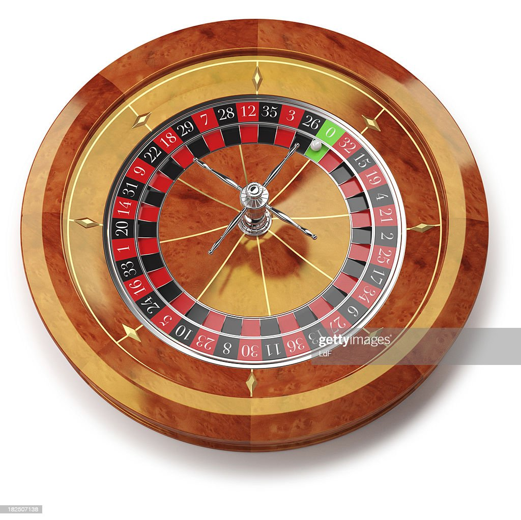 Roulette wheel isolated on white