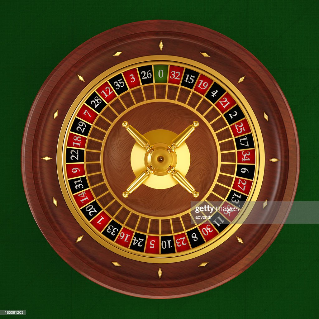 Roulette wheel (Top angle)