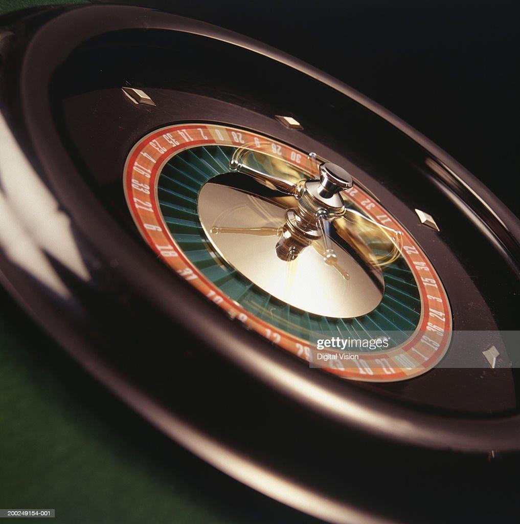 Roulette wheel, (Close-up)