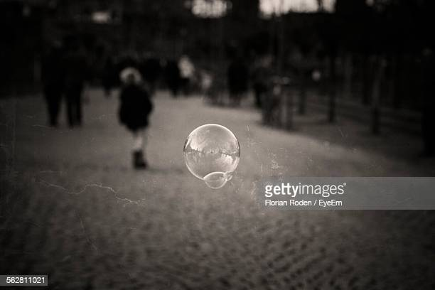 Round Bubble Floating In Air