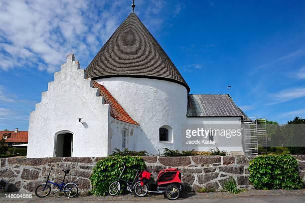 Round church on Bornholm island, Denmark, Europe
