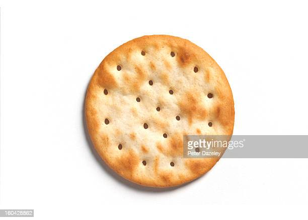 Round cracker with copy space