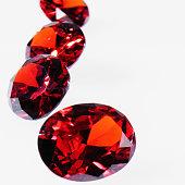 Round Cut Rubies