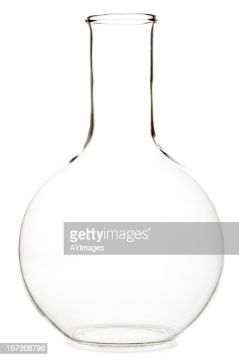Round laboratory glass flask