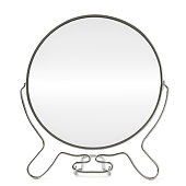 round mirror isolated on white background