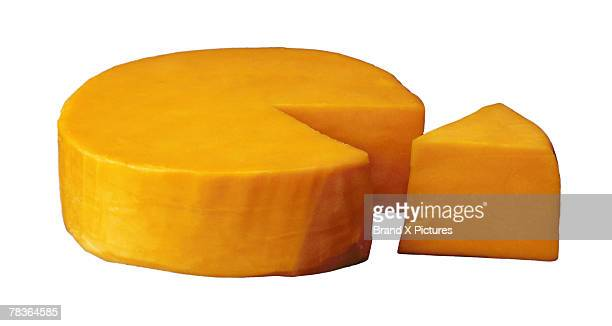 Round of cheddar cheese