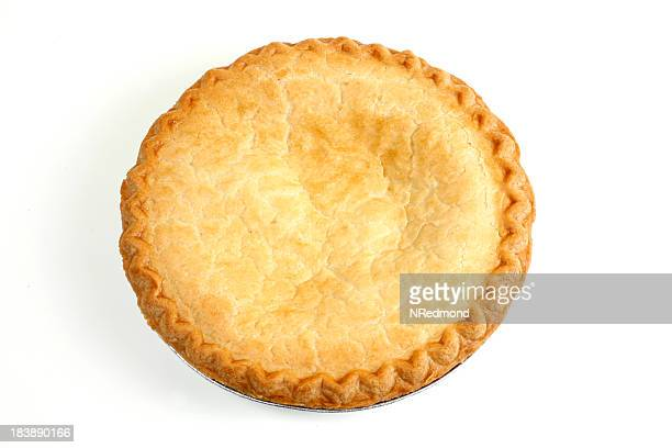 Round Pie lying on a white background