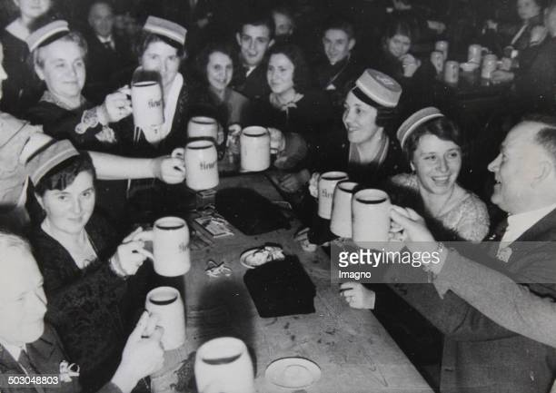 Round table with a Bock Beer Festival in Berlin January 1934 Photograph