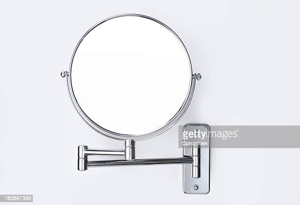 Round wall-mounted mirror