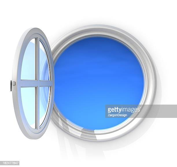 Window frame stock photos and pictures getty images for Rundes fenster