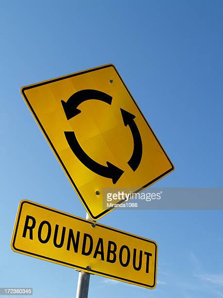 Roundabout / traffic circle sign